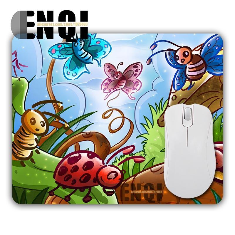 Natural Happy Insect wallpaper Padded Desktop Pad Mousepad Optical Mouse Mat Computer Mice Pads Durable Gamer Speed Slide Mats(China (Mainland))