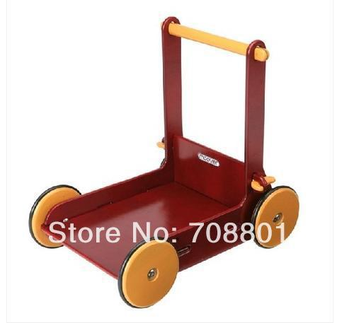 Moover Baby Walker Color: Natural / Red, Safer Wooden Dolls