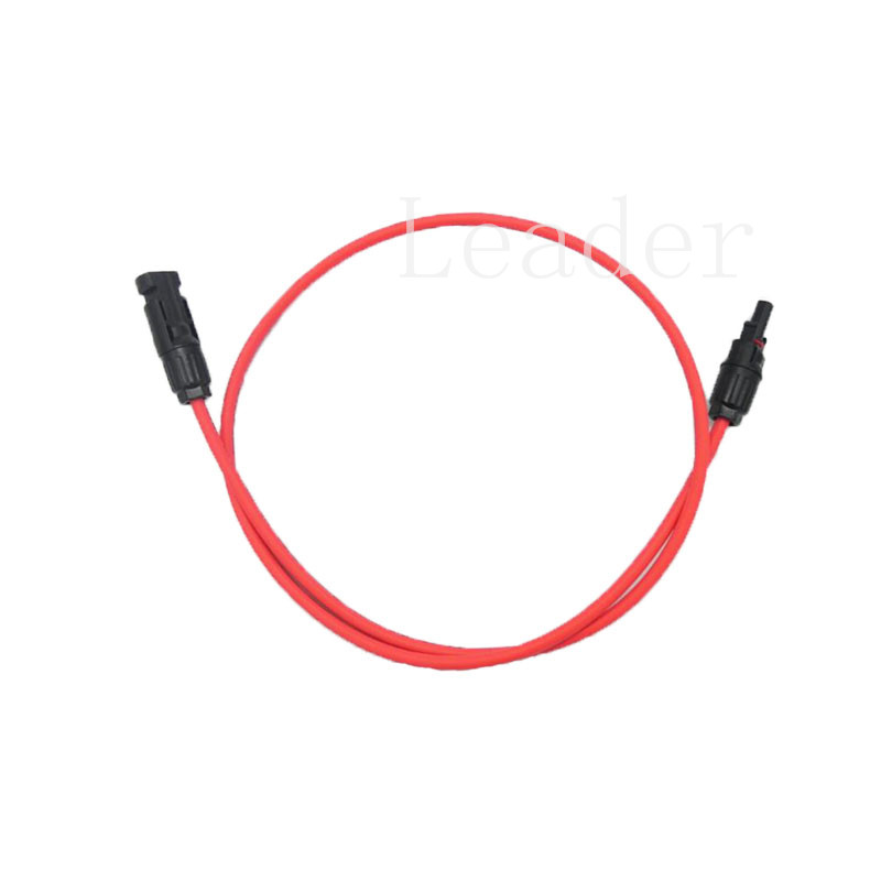 10 set/lot 1 Metre MC4 Solar Extension Cable with Connectors, PV Cable 4mm2 (12 AWG) with MC4 Connector, Black and Red(China (Mainland))