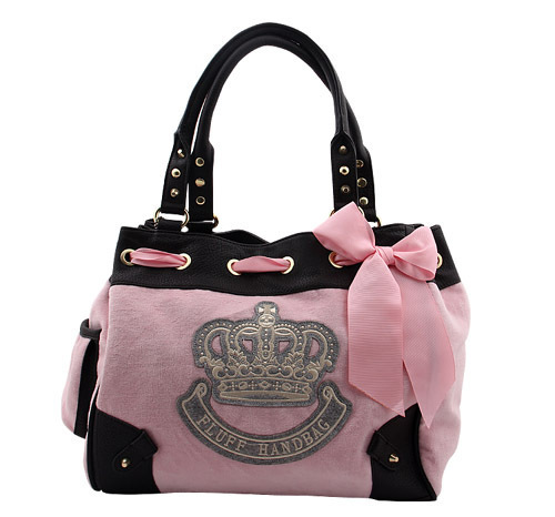 2013 Fashion Casual Velour Women Handbags Bow Drawstring Totes & Shoulder Bags 3 Colors Available
