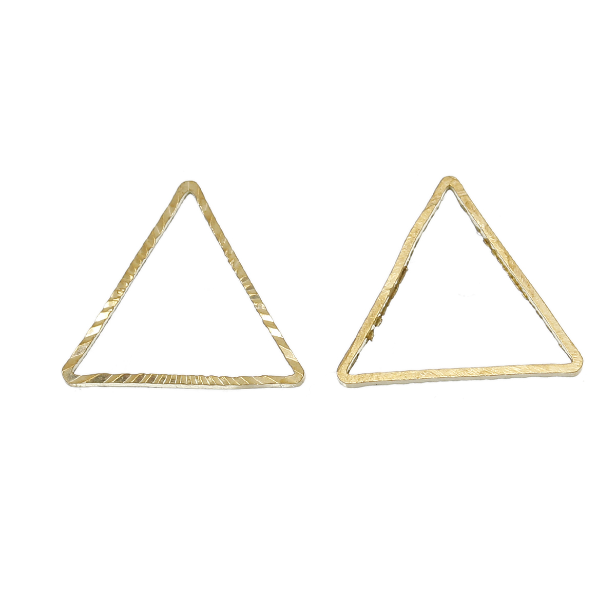 "Brass Beads Frames Triangle Brass Tone Blank 15mm( 5/8"") x 13mm( 4/8""), 100 PCs 2015 new(China (Mainland))"
