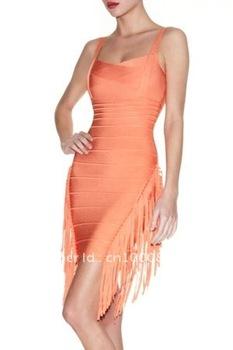 Hotsale spaghetti straps rose sheathy short fashion evening dress HLZ2