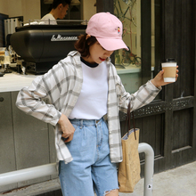 Mihoshop Ulzzang Korean font b Women b font Fashion Clothing all match Lapel loose long sleeve