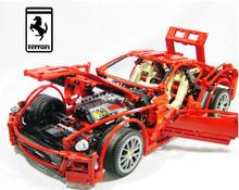 1322pcs/set 1:10 559GTB Formula Racing Car Model Building Blocks Sets Educational DIY Bricks Toys Compatible With Lego Technic(China (Mainland))