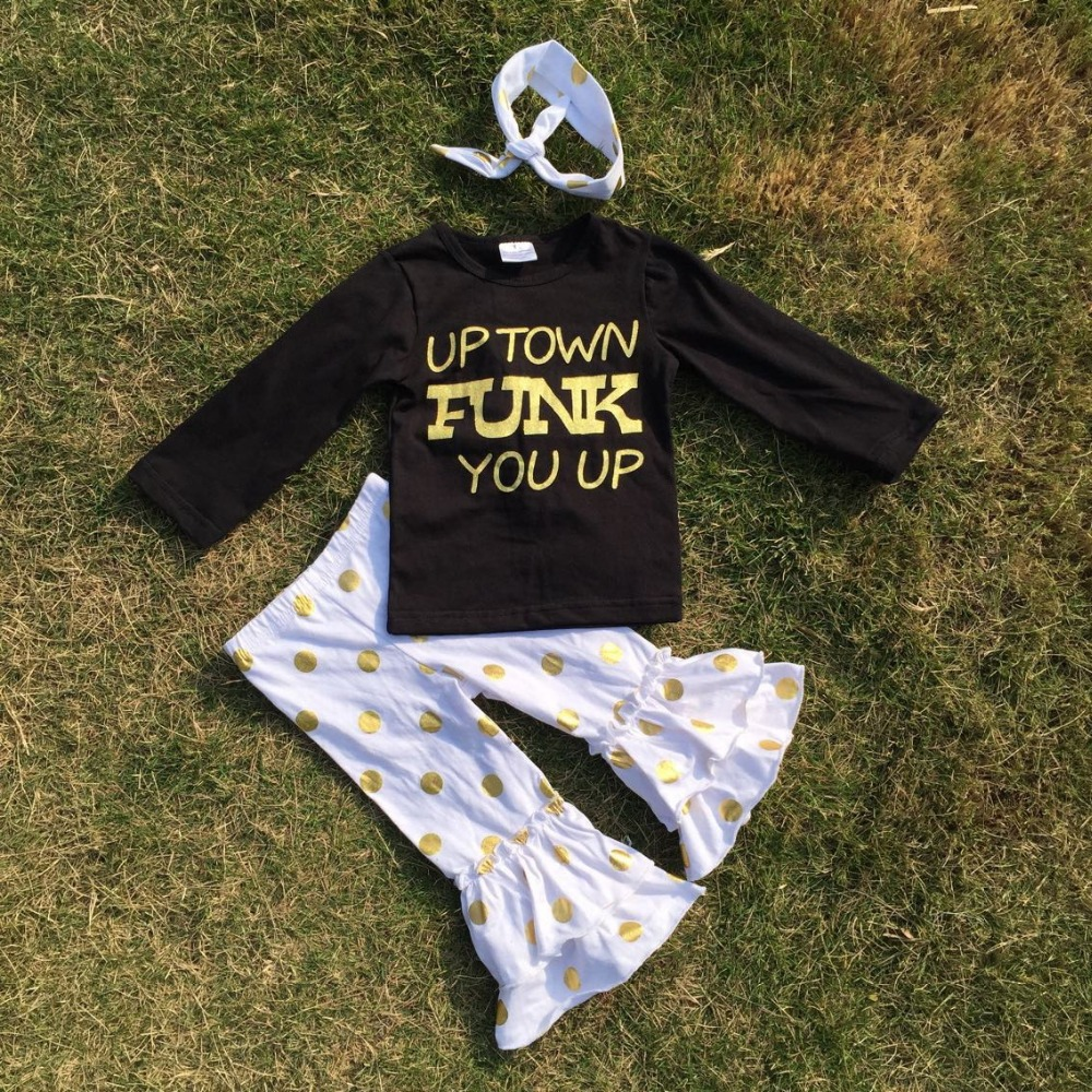 Гаджет  FALL kids OUTFITS gold sequins pants sets girls clothes girls up town funk you up sets girls black top sets with accessories None Детские товары