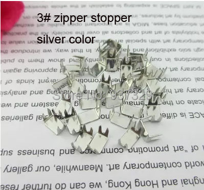 Aliepress New 60Pcs/lot Silver Color Metal 3# Zipper Repair Fix Zipper Stopper For DIY Sewing Accessories Tailor Tools 9-138(China (Mainland))