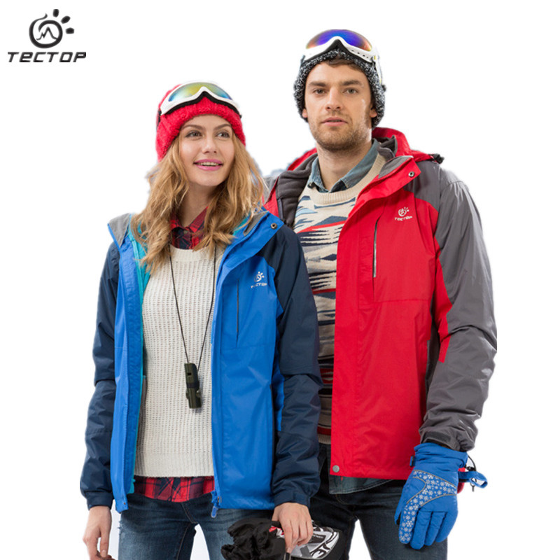 Couples Autumn Winter Outdoor Windstopper Hiking&amp;Hunting Clothes Ski Jacket Women&amp;Men Hooded Warm  Climbing&amp;Camping Coat TECTOP<br><br>Aliexpress