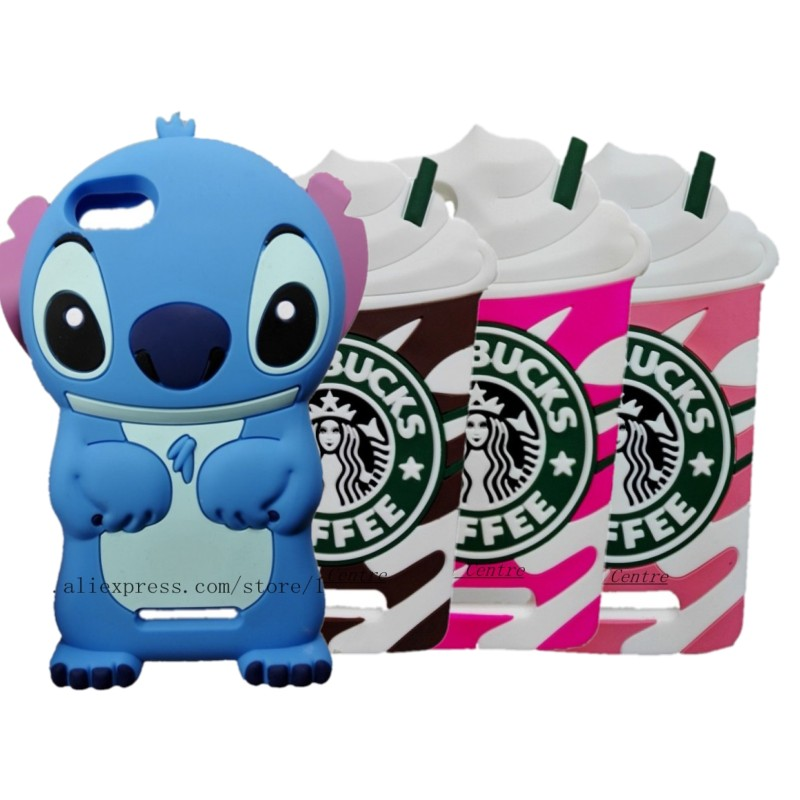 Wiko Lenny 2 cover 3D Cartoon Minions Minnie Mouse Stitch Soft Rubber Silicon Case Lenny2  -  Made In China Centre store
