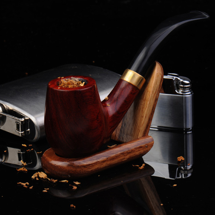 ZOBO authentic wood Smoking Pipes Only to supply high end men s Ebony tobacco pipe Ben