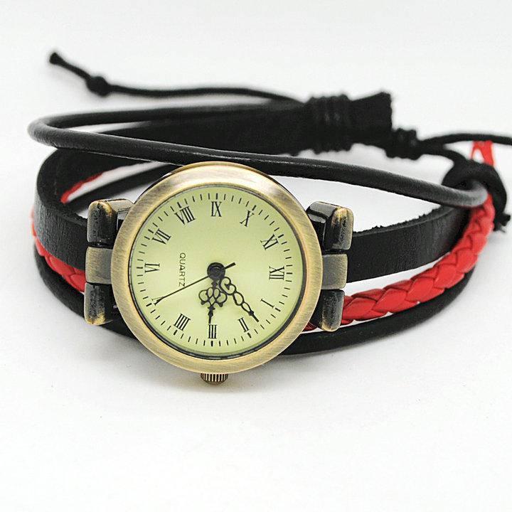 2013 bracelet watch Rome Genuine cow leather ladies quartz vintage wristwatches for man women unisex free shipping(China (Mainland))