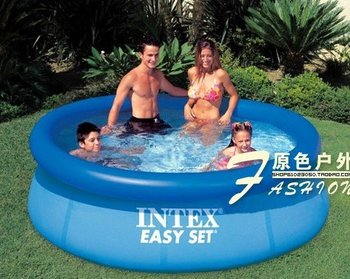 2.4M X0.76M     Inflatable swimming pool+ pump    PVC     Capacity :2420L