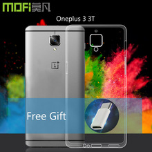 Oneplus 3T case silicone cover oneplus 3 3t transparent protector one plus soft back capa mofi original housing TPU - Mofi Factory Store store