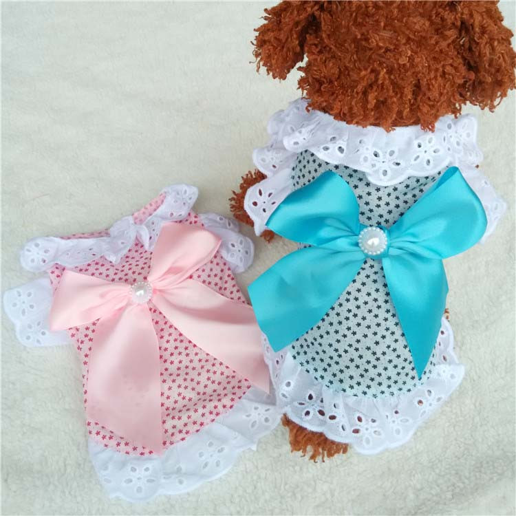 Summer New Cat Dog Clothes Puppy Dog Princess Dress Shirt With Nylon Lace Sexy Breathable Pet Clothing for Chihuahua Teddy XS S M L XL4