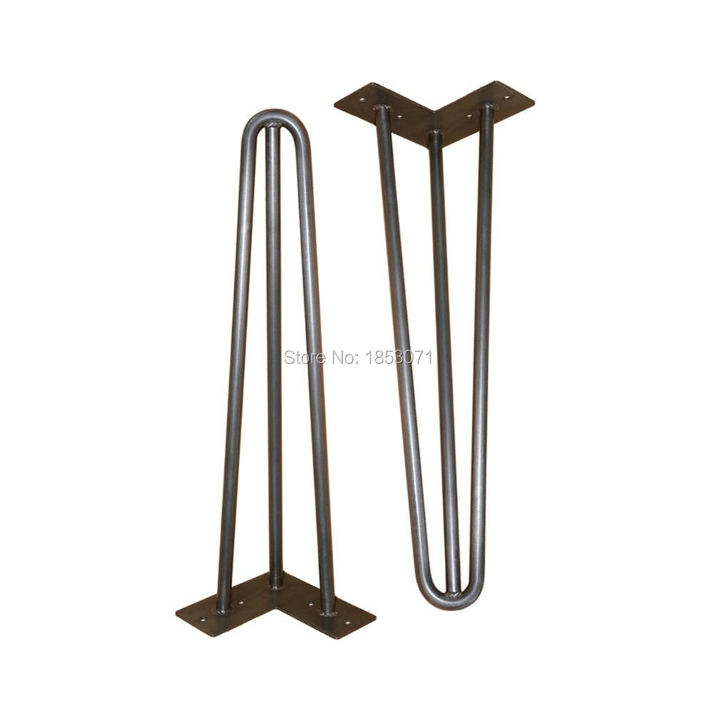 Popular metal coffee table legs buy cheap metal coffee for Cheap hairpin legs
