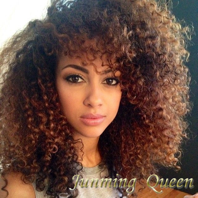 130 Density Afro Kinky Curly Ombre Full Lace Wigs Hair