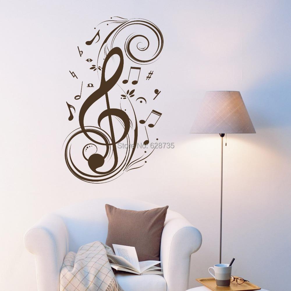 Beat Note Music Wall Art Stickers Vinyl Wall Stickers Music Decor