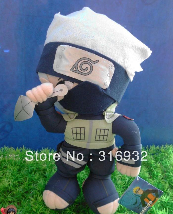 J1 JAPANESE ANIME Naruto Hatake Kakashi Plush Toy 34cm, 1pc LIMITED!!!(China (Mainland))