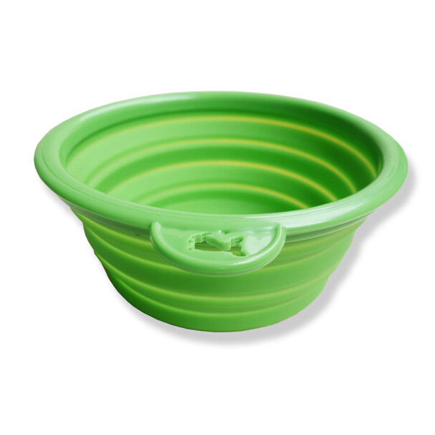 Good Deal ! Dog Pet Travel Plastic Collapsible Food Water Bowls,green,IN STOCK(China (Mainland))