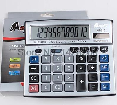 Solar Led Handheld Calculator Aobo Ap-615 Calculadora Office Solar Calculator Cute Business Type Hot Sell 2014new Freeshipping(China (Mainland))