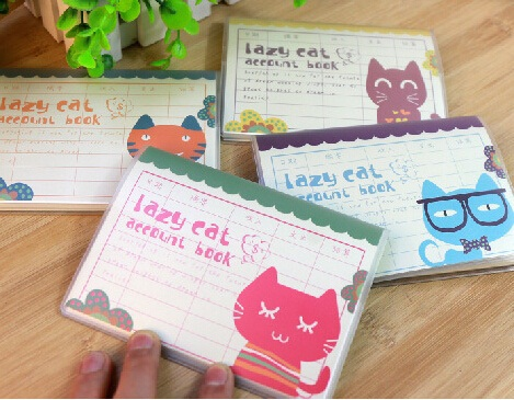 Vintage Lazy Cat series Account Book/PP Cover mini pocket notebook/diary wholesale<br><br>Aliexpress