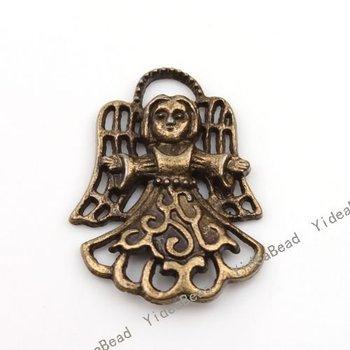 Wholesale - 80pcs Hot Sale Bronze Tone shape Charms Pendants Fit Necklaces Have in Stock 140160