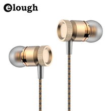Elough Professional In-Ear Earphone For Phone Bass Headset With Micphone Metal Stereo Headphones For Computer PC Samsung Sony(China (Mainland))