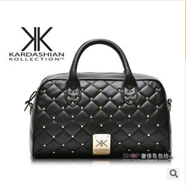 kardashian kollection handbags new portable shoulder bag Messenger bag Quilted rivet package kk(China (Mainland))