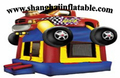 Hot 0 55mm PVC customized tractor shape inflatable jumping castle inflatable car shape bounce house