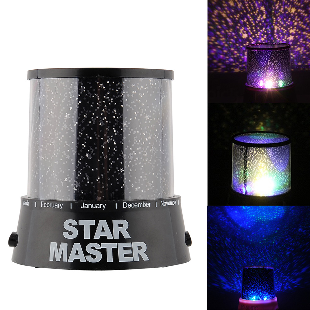 Romantic Magic 4 LED Sky Star Starry Sky Projector Night Light Lamp Nursery Home Display Bedroom Gift New Arrival(China (Mainland))