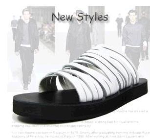 2015 new KRIS Real cowhide han edition hole slippers British leisure men sandals beach shoes men's flats - Lemon shoe ark store