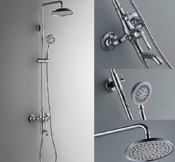 Здесь можно купить  Chrome Finish Bathroom Shower Set Faucet w/Tub Faucet Single Handle Mixer Tap  Дом и Сад