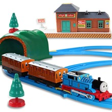 2015 New Electric Thomas Train track baby kids boy and friends brinquedos motor model with rail for children christmas gift(China (Mainland))