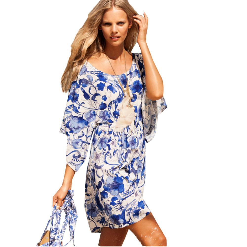 Blue print dresses full screen sexy videos for Robes de mariage de betsey johnson