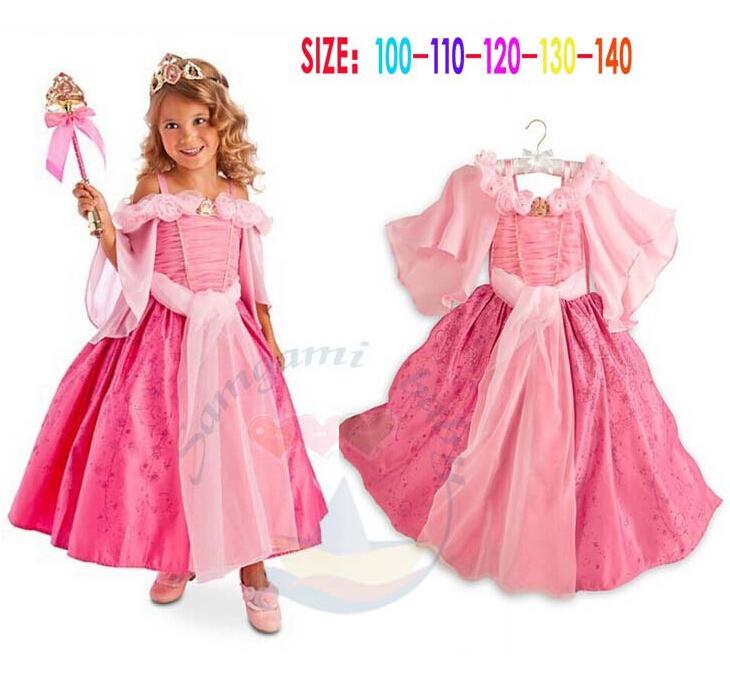 Retail,New 2015 Brand Girl Cartoon Princess Sofia Dress Birthday Party Kids Wear Summer Wedding Dress Pink(China (Mainland))