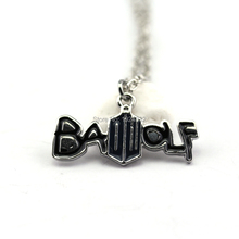 Hot TV Series Doctor Who Bad Wolf Letter Neckalces Black Alloy MetaL lInk Chain Free Shipping(China (Mainland))