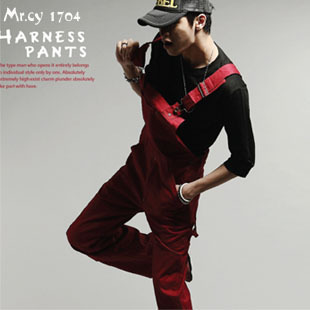 2014 New Arrival&PROMOTION Men's British Style Solid Color Casual Jumpsuits Men Modern Pants