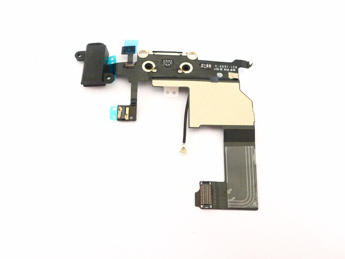 Black Charge Sync Dock Connector Ribbion Flex Cable Repair Parts For iPhone 5 5G Hot Sale