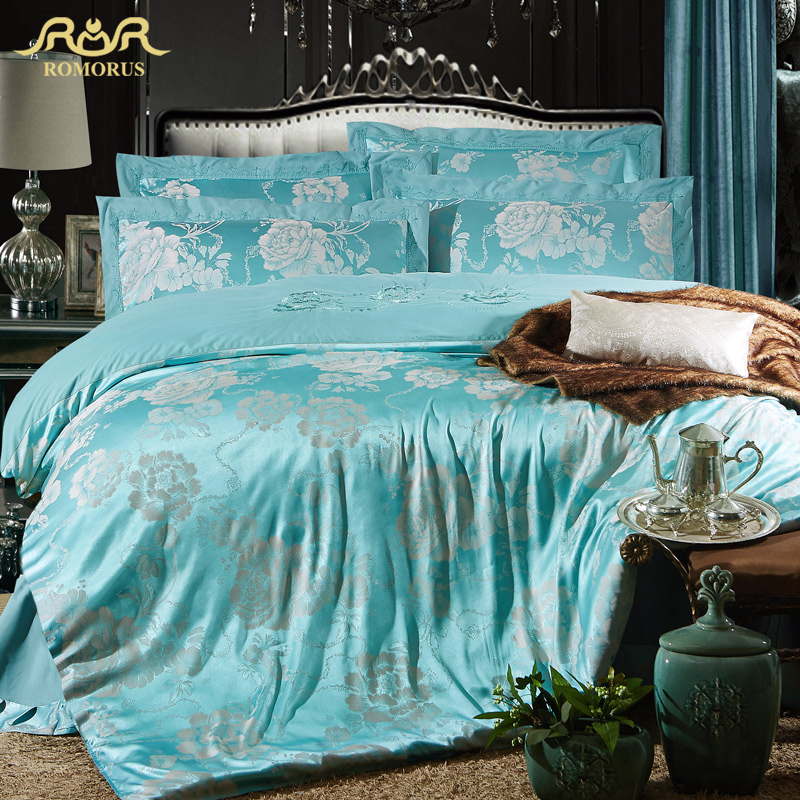 Turquoise comforter promotion shop for promotional - Fundas nordicas jacquard ...