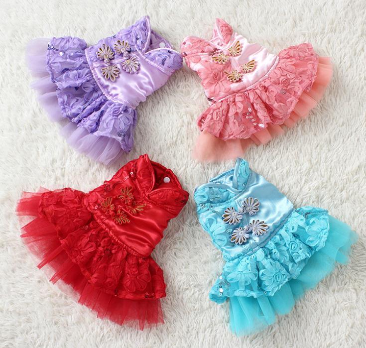 Retro Pankou super beautiful dress dog clothes pet supplies factory direct fall and winter clothing dress(China (Mainland))