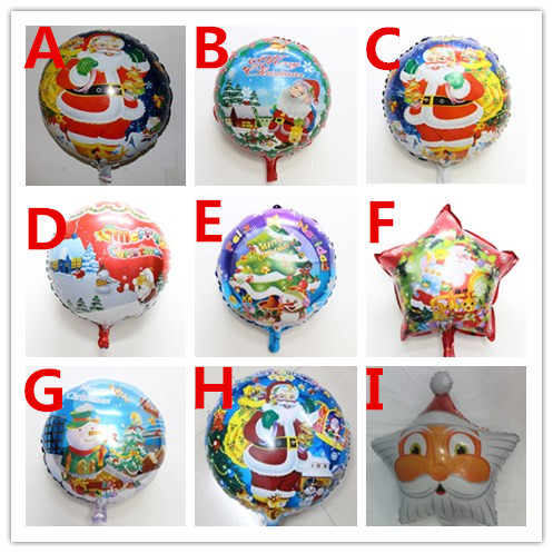 50pcs/lot Santa Claus cartoon christmas balloons inflatable helium party supplies kids toys globos ballons balony<br><br>Aliexpress