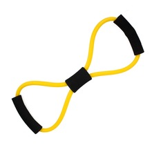 Free Shipping 39cm Fitness Resistance Bands 8 Shaped Resistance Rope Exerciese Elastic Exercise Bands for Yoga Pilates Workout