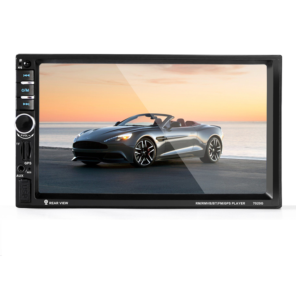 Audio Navigation brand new Car 7 Inch TFT Bluetooth MP5 Video Player GPS Navigation Rear View Camera Car Radio In Dash Stereo