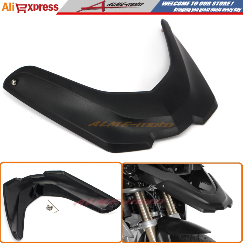 Motorcycle Front Fender Beak Extension Extender Wheel Cover Cowl For BMW R1200GS LC 2013 2014 2015 2016 Black(China (Mainland))