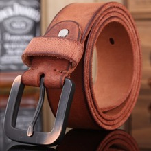 Buy vintage belts mens women luxury 100% real high full grain genuine leather 2017 jeans brown cowboy casual 3.8 cm wide for $15.87 in AliExpress store