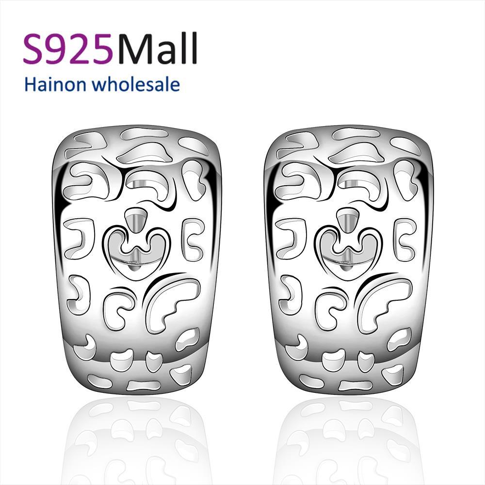 Fashion silve square Jewelry Sale Women Trendy Plated Geometric New Supplies Earrings Fashion High Quality(China (Mainland))