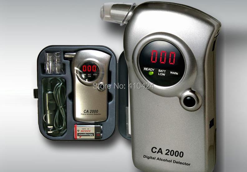 New CA-2000 Digital Drunkometer Breathalyzer Breath Check portable Alcohol Tester detector(China (Mainland))