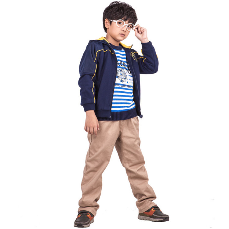2015 spring and autumn hot sale baby boys fashion coats little boys patchwork outerwear YBJ30125(China (Mainland))