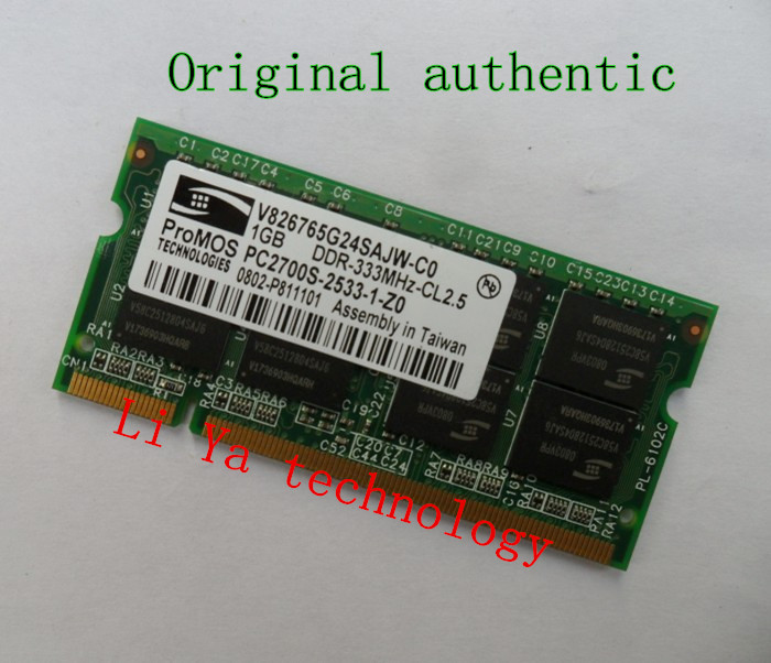 ProMOS 1GB PC2700 DDR333 200PIN SODIMM ddr 333Mhz Laptop MEMORY 200-pin SO-DIMM RAM DDR Laptop Notebook MEMORY(China (Mainland))
