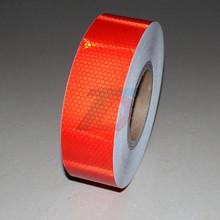 Оптовая продажа 5 см x 50 м красный безопасности отражающая наклейка пвх предупреждение ленты высокое видимость светоотражающие ленты