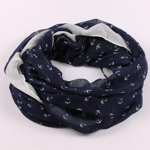 Дизайн женщины carf романтический якорь узор вуаль шейный платок фреш петля шарф ...